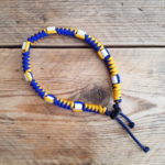 Tekenband snake – oker blauw