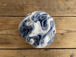Snuffelbal wit/blauw – 15cm