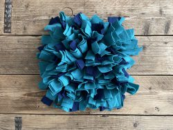 Snuffelmat blauw/groen – 35cm