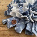 Snuffelmat blauw/wit – 25cm