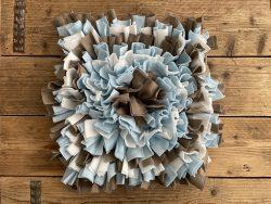 Snuffelmat beige/blauw- 50cm
